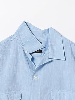 Short Sleeve Cotton Linen Camp Shirt 11-01-0739-139: Saxe