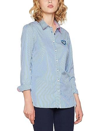 Tommy Hilfiger Damen Hemd Naomi Poplin Heritage Shirt LS W2, Blau (Olympic  Blue/