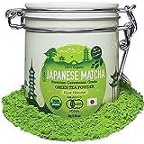 Premium Japanese Ceremonial Grade Matcha Green Tea Powder by Matcha Organics - 1st Harvest HIGHEST - USDA & JAS Organic - 30g