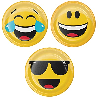 Show Your Emojions Dessert Plates, 24 ct: Health & Personal Care