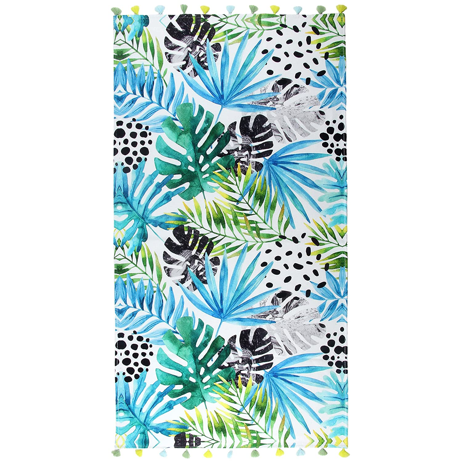 Palm Beach Towel 35 x 59 - Premium Cotton Beach Towel - Thin Beach Towel - 100% Premium Turkish Cotton