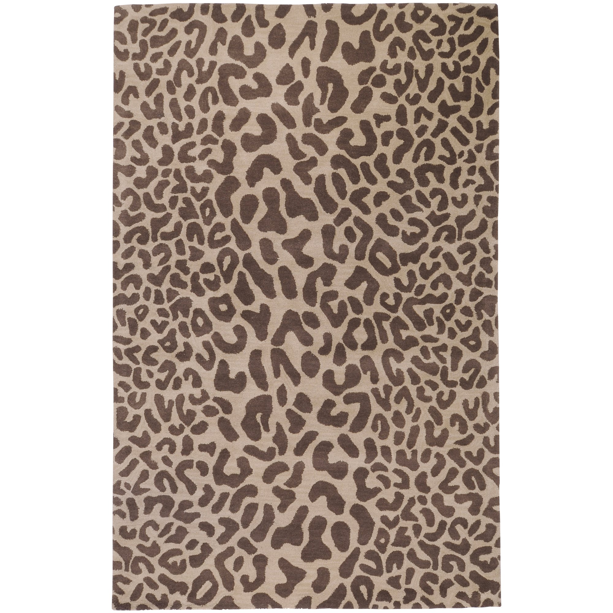 Surya Athena ATH-5000 Contemporary Hand Tufted 100% Wool Driftwood Brown 2'6'' x 8' Animal Runner by Surya (Image #1)