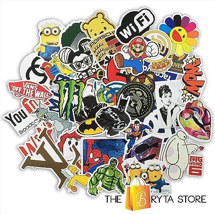 Cool Sticker 100pcs Random Music Film Vinyl Skateboard Guitar Travel Case  Sticker Door Laptop Luggage Car