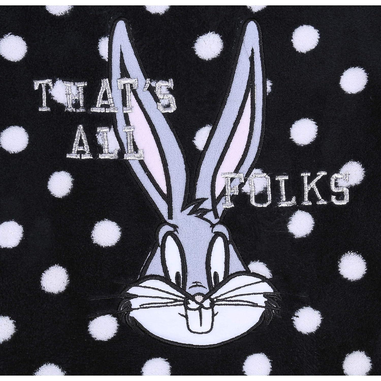 Looney Tunes Pigiama Nero-Rosa Il Coniglio Bugs Bunny