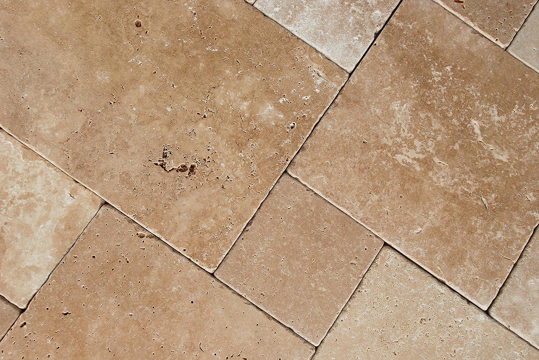Crema Travertine Tumbled Versailles French Pattern Premium Quality Tiles Small Sample