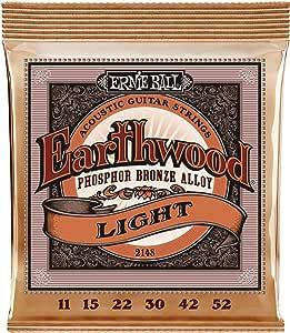 Ernie Ball Earthwood Light Phosphor Bronze Acoustic String Set.011 - .052
