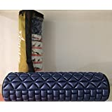 Tenstar Fitness Massage Foam Roller Therapy Yoga Gym Physio Injury Foam Roller High Quality With Cover (Navy Blue)