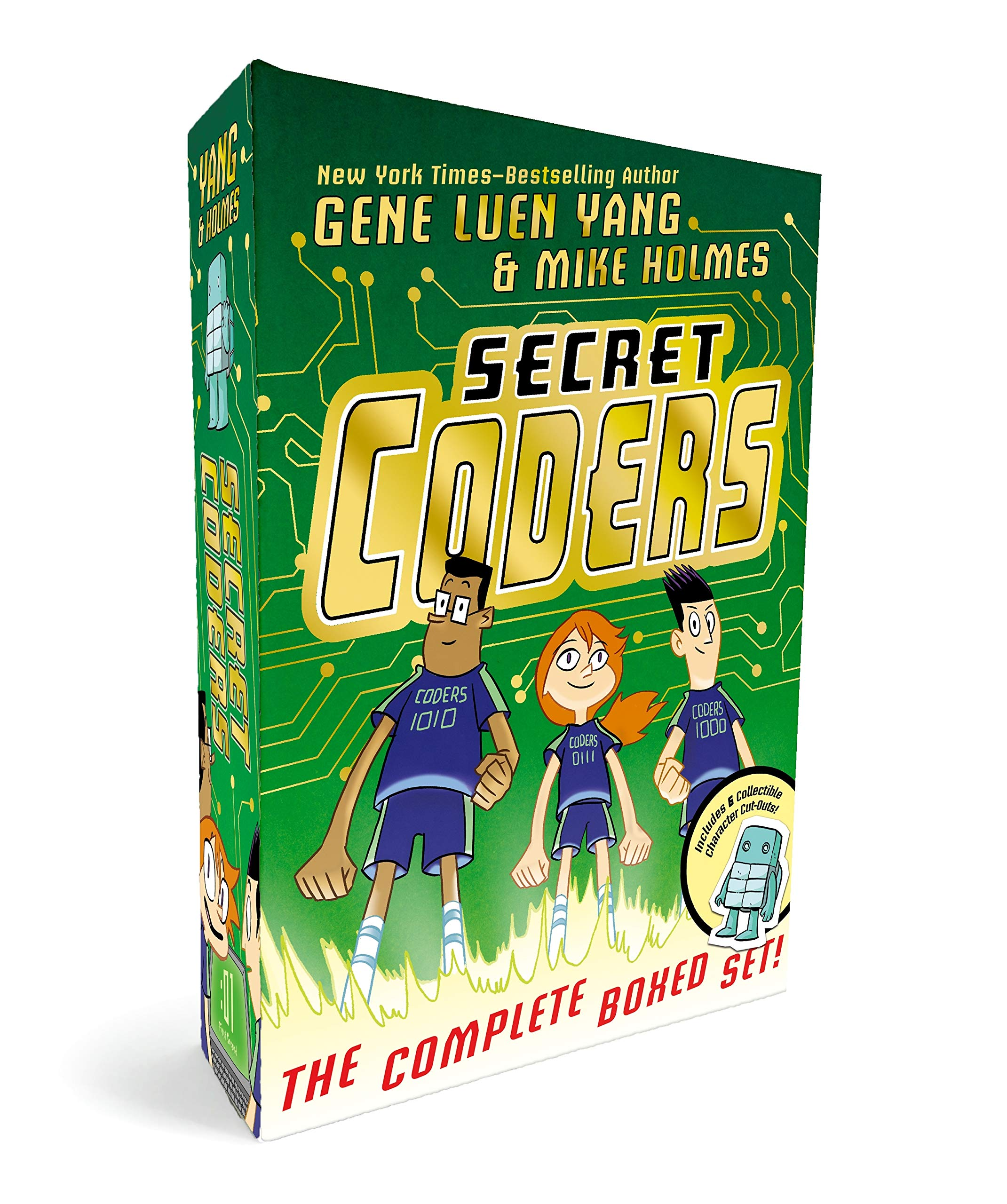 Secret Coders: The Complete Boxed Set: (Secret Coders, Paths & Portals, Secrets & Sequences, Robots & Repeats, Potions & Parameters, Monsters & Modules) by First Second