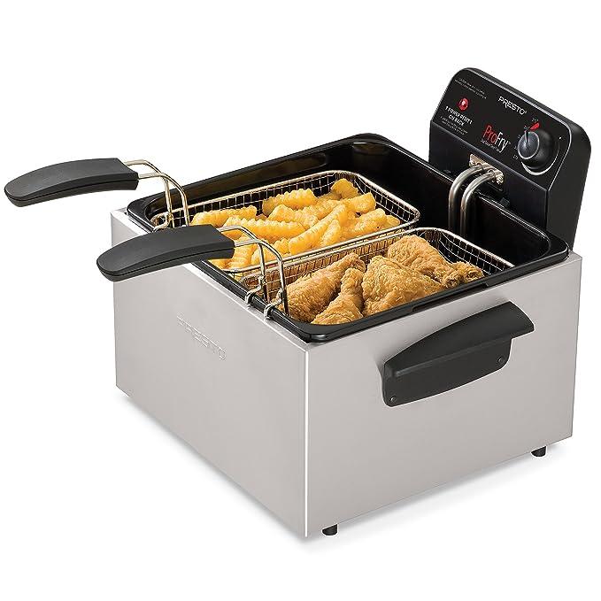 Presto 05466 Stainless Steel Dual Basket Pro Deep Fryer