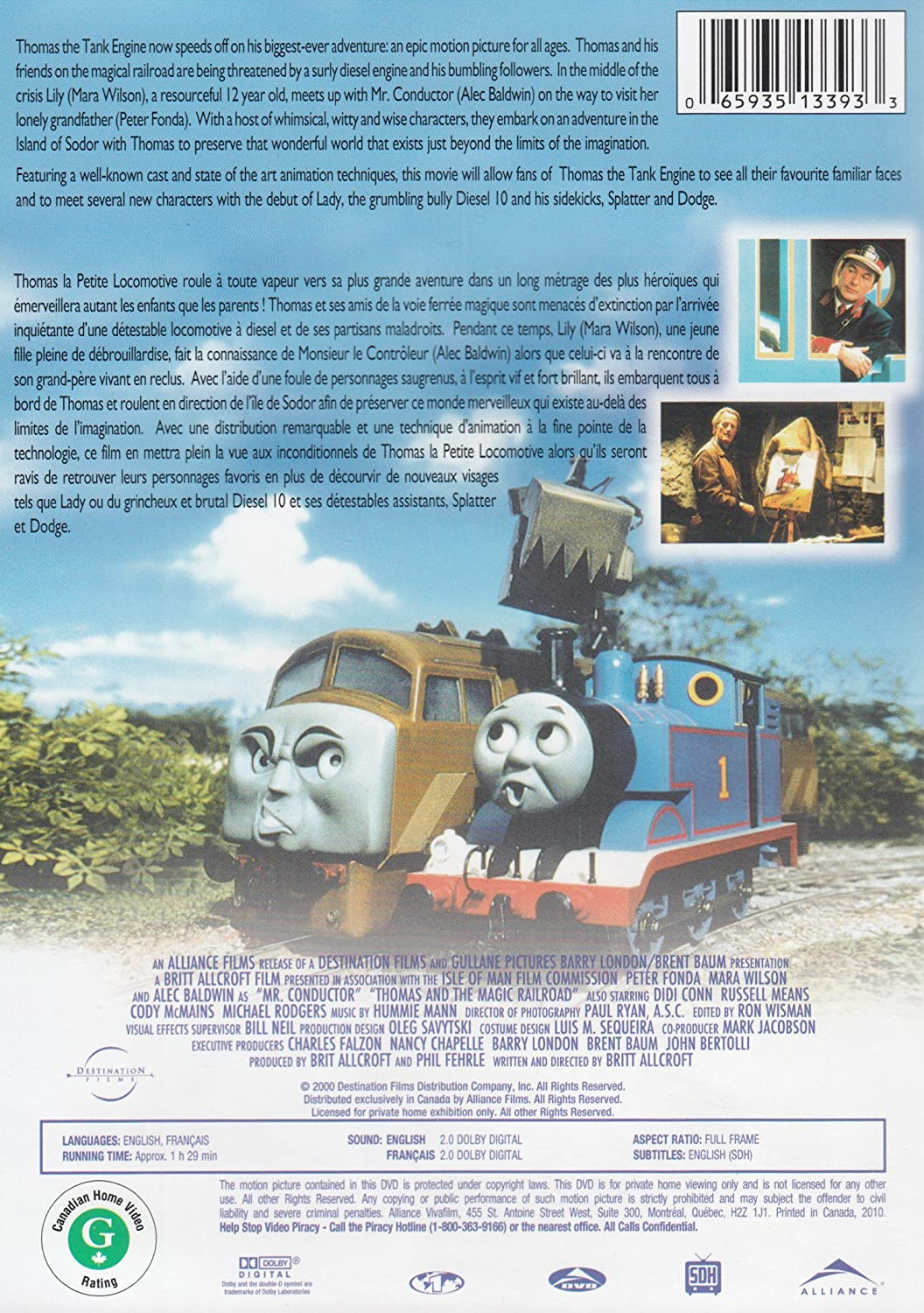 Amazon com: Thomas and the Magic Railroad: Alec Baldwin, Cody