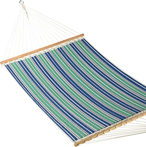 Caribbean Hammocks – Quilted Hammock Green Blue Stripe