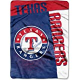 "MLB Texas Rangers ""Strike"" Raschel Throw Blanket, 60"" x 80"""