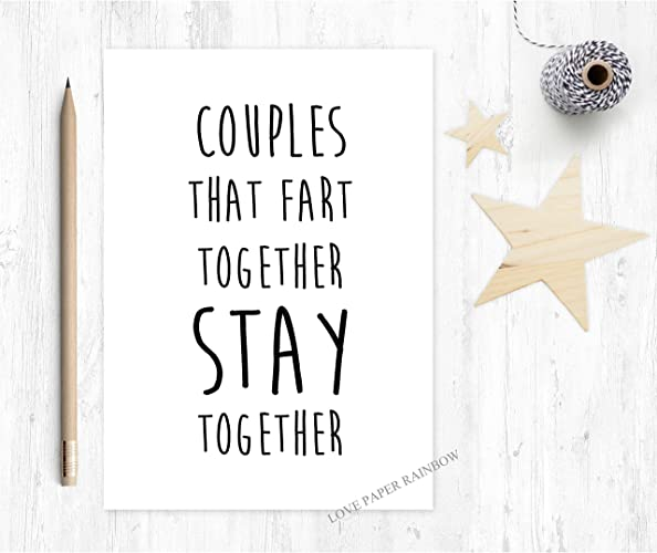 Funny anniversary card fart anniversary card fart card couples funny anniversary card fart anniversary card fart card couples that fart together stay m4hsunfo Gallery
