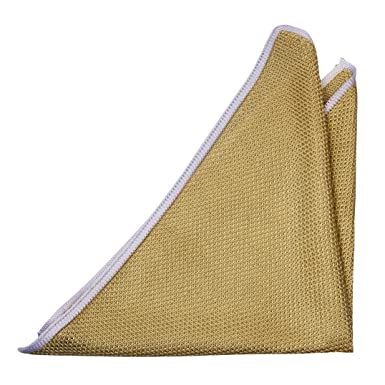 Handkerchief - Semi-solid, beige & off-white mix & off-white edge Notch