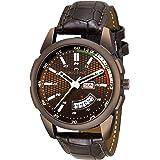 Swisstone OCTAN325-BRWN Brown Leather Strap Wrist Watch for Men