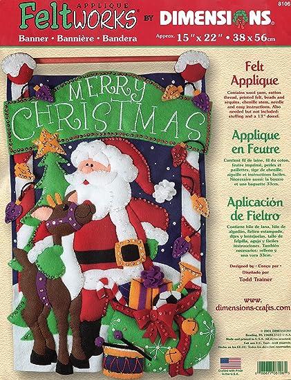 Feliz Navidad Fieltro Applique Banner Kit 15 X 22 Arte Manualidades Y Costura