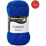 Sommerwolle Catania Schachenmayr leichte Baumwolle - Schachenmayr Wolle aus hochwertiger Baumwolle für farbenfrohe Designs! Catania Original in royal Fb 201 (blau, dunkelblau, marineblau, marine), 100% Baumwolle, Wolle Catania Schachenmayr, Baumwollgarn