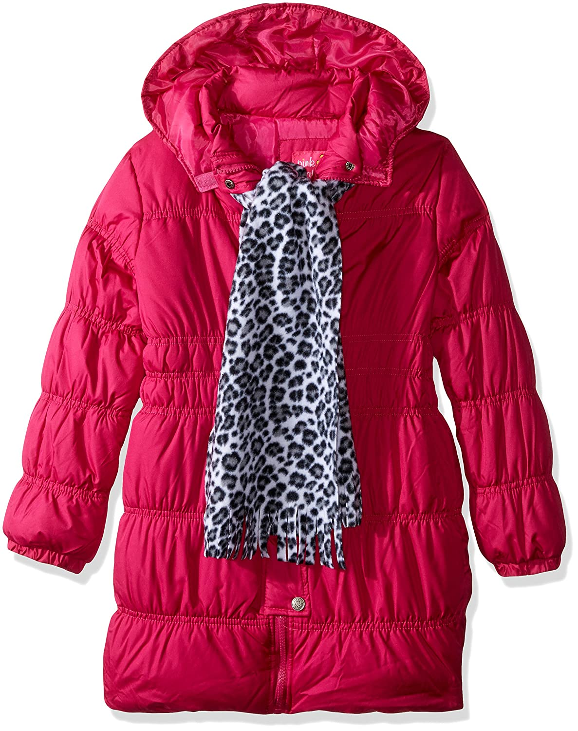 Pink Platinum Girls Long Puffer Jacket with Accessories 74394