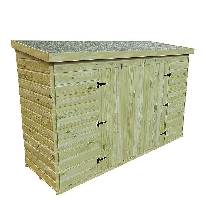 7 x 3 madera tratada a presión jardín caseta de cobertizo (Tongue & Groove, bicicleta Herramienta Store Reverse Pitch: Amazon.es: Jardín
