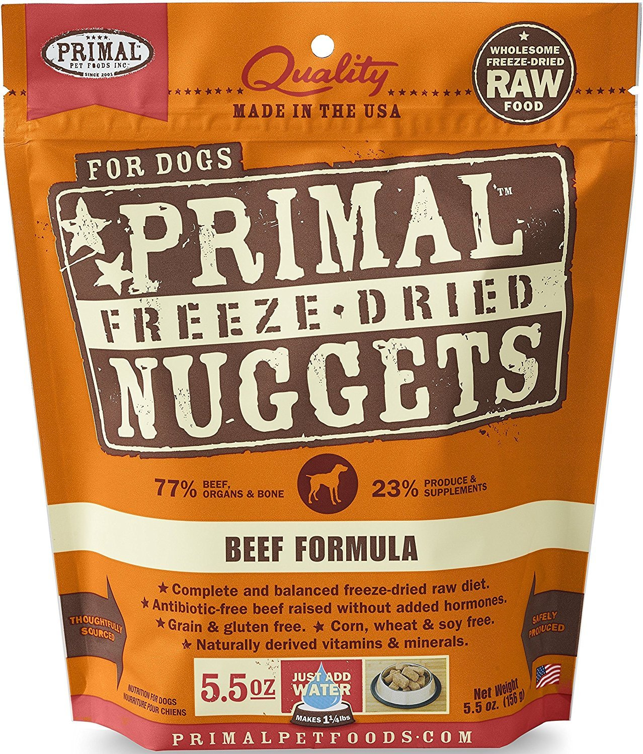 Primal Pet Foods Freeze-Dried Canine Beef Formula 5.5 Oz by Primal Pet Foods