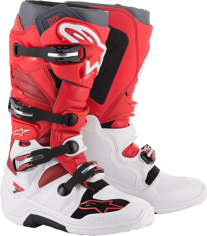 Black//Orange//White, 15 Alpinestars Mens Tech 7 Boot