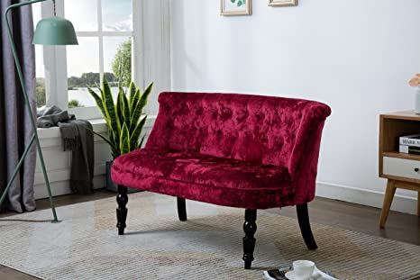 Pleasing Kings Brand Furniture Diana Velvet Tufted Upholstered Settee Bench Red Pdpeps Interior Chair Design Pdpepsorg
