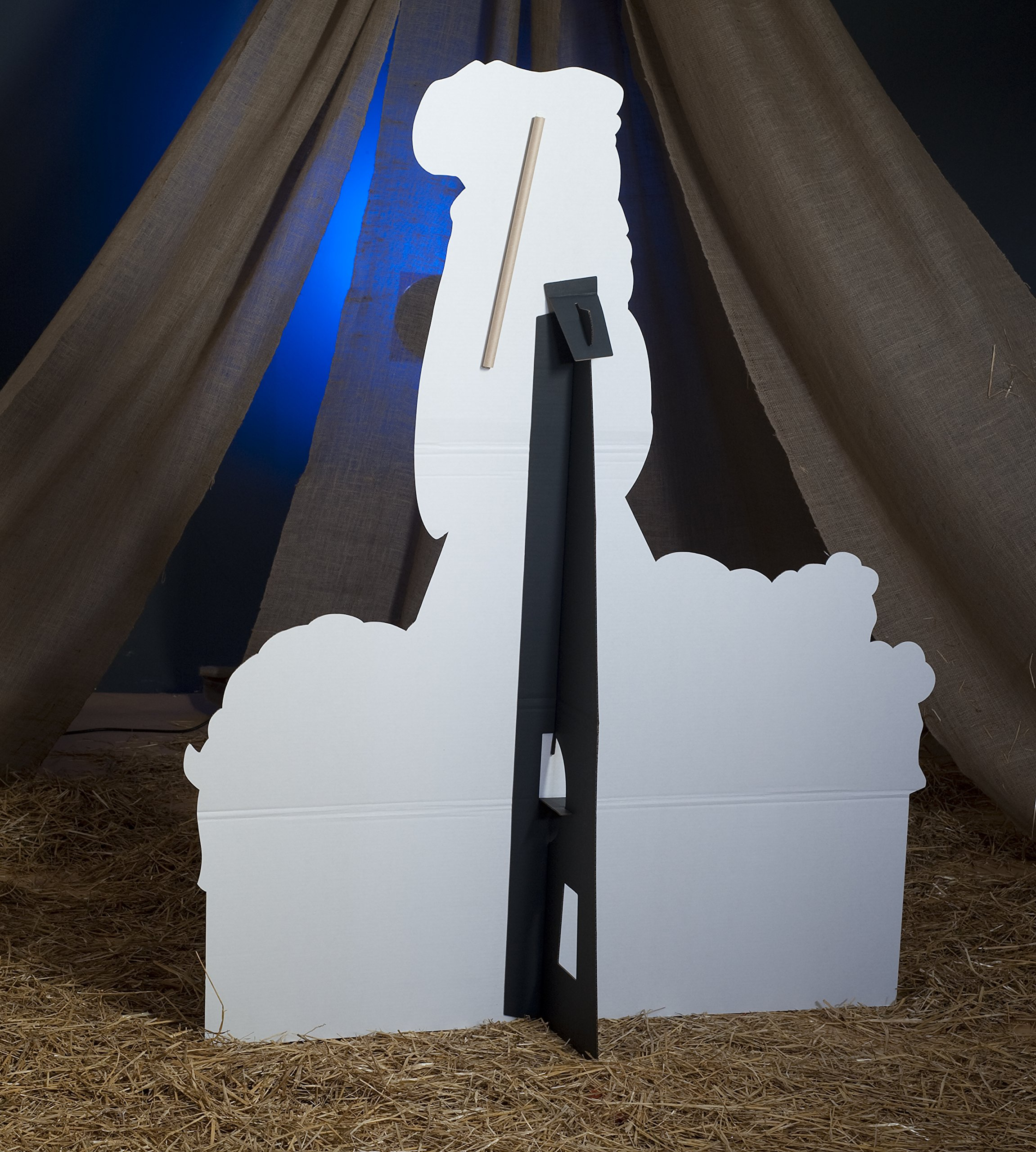 Shepherd and Sheep Standee Standup Photo Booth Prop Background Backdrop Party Decoration Decor Scene Setter Cardboard Cutout