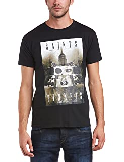 Mens Young & Fearless Slim Fit Round Collar Short Sleeve T-Shirt Minted Fashion
