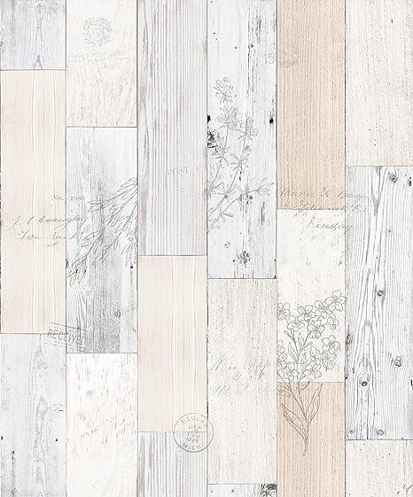 Vintage Herb Wood Panel Pattern Contact Paper Self Adhesive Peel Stick Wallpaper