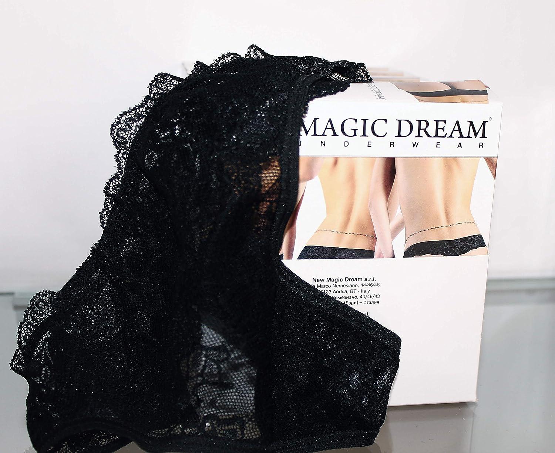 c810f7669d Perizoma Donna Pizzo Ricamato Nero MAGIC DREAM Taglia 2: Amazon.it:  Abbigliamento