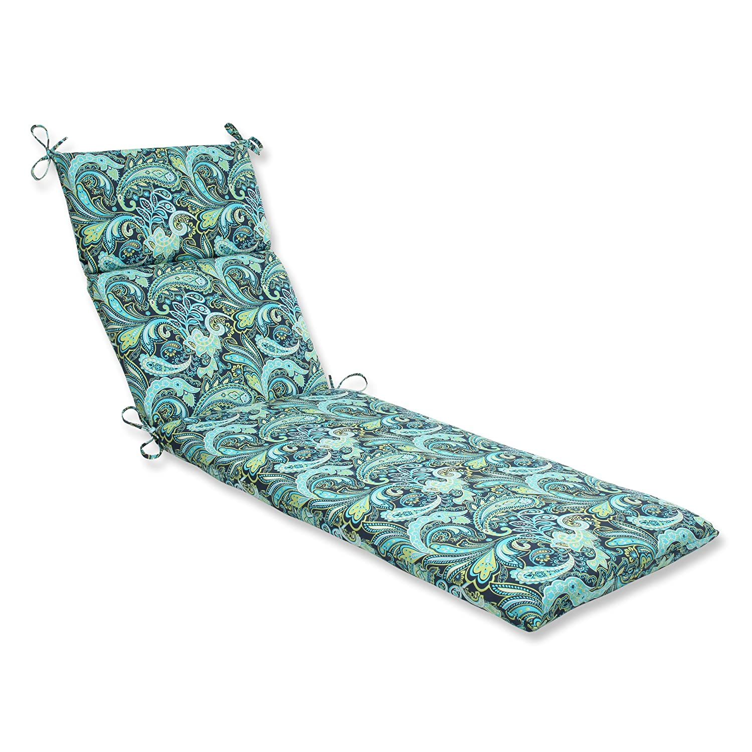 Pillow Perfect Outdoor Pretty Paisley Chaise Lounge Cushion, Navy Inc. 543772