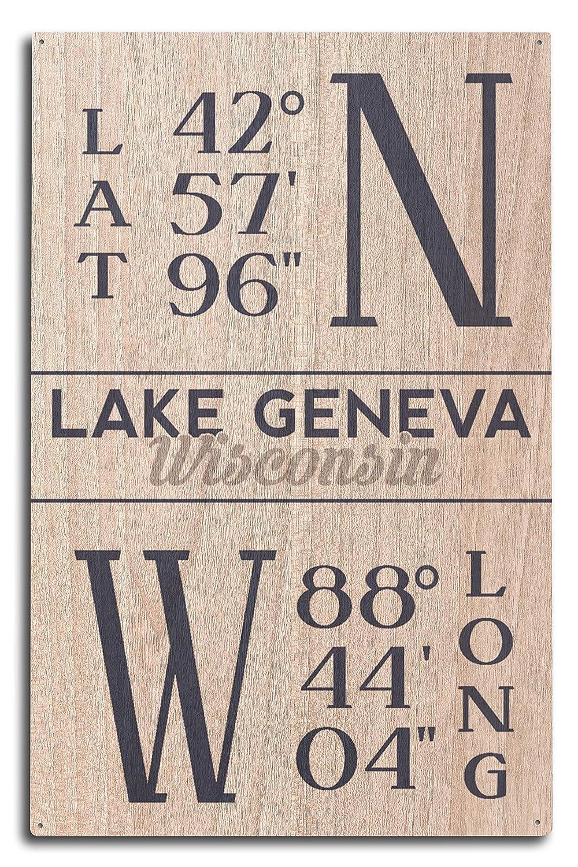 『1年保証』 ウィスコンシン湖 LANT-85549-TT - Latitude and Longitude Wood Canvas Tote Bag 10 LANT-85549-TT B07H4ZHMKT 10 x 15 Wood Sign 10 x 15 Wood Sign, 金ヶ崎町:0993fcff --- ciadaterra.com