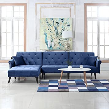 Amazon Com Divano Roma Furniture Mid Century Modern Style Velvet