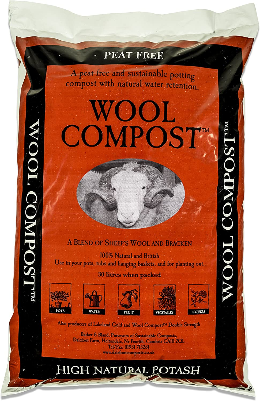 Dalefoot 2 x Bolsas de Compost de Lana turba, sostenible: 30 litros: Amazon.es: Jardín