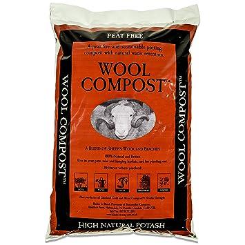 Dalefoot 2 x Bolsas de Compost de Lana turba, sostenible: 30 litros