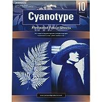 """Jacquard Jacquard Cyanotype 8.5"""" X 11"""" Sheets Pk 10 Cyanotype Fabric Sheets, 216x279mm, Pieces"""