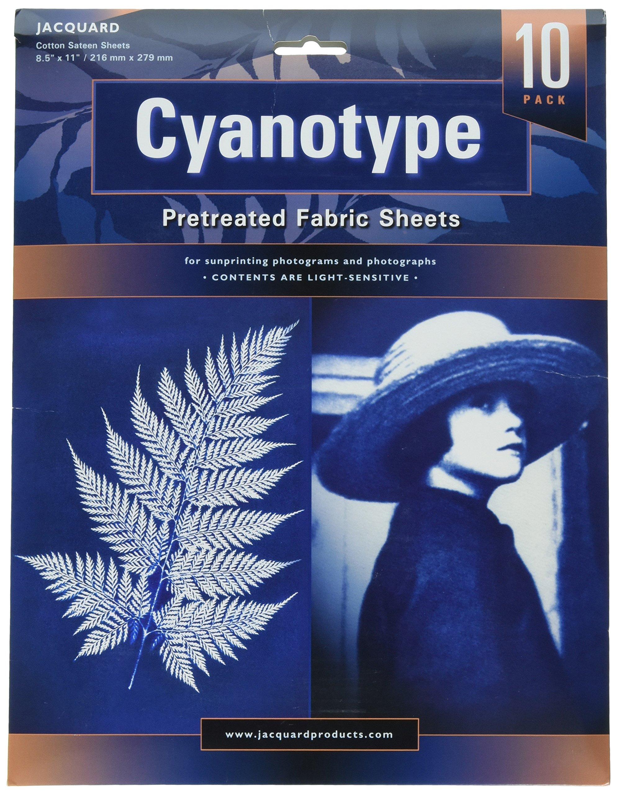 Jacquard Cyanotype Pretreat Fabric Sheets 10-Pack 8.5'' x 11''