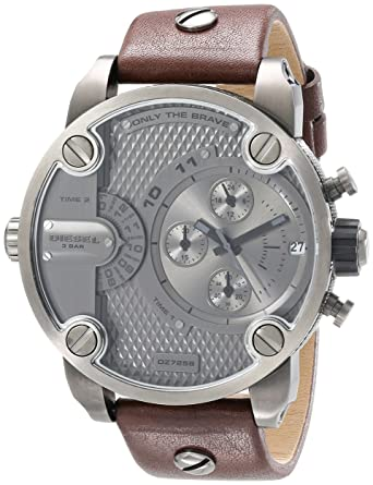 Image Unavailable. Image not available for. Color  Diesel Men s DZ7258 Little  Daddy Gunmetal Brown Leather Watch 107367c682