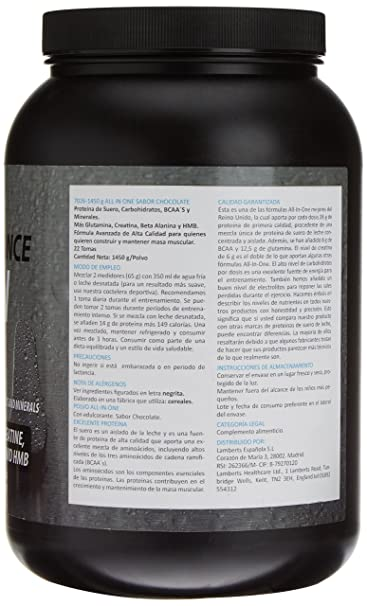 Lamberts All in One Suplemento para Deportistas, Sabor a Chocolate - 1450 gr: Amazon.es: Salud y cuidado personal