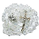 Amazon Price History for:Clear Crystal Beads Rosary Catholic Necklace Holy Soil Medal with Crucifix