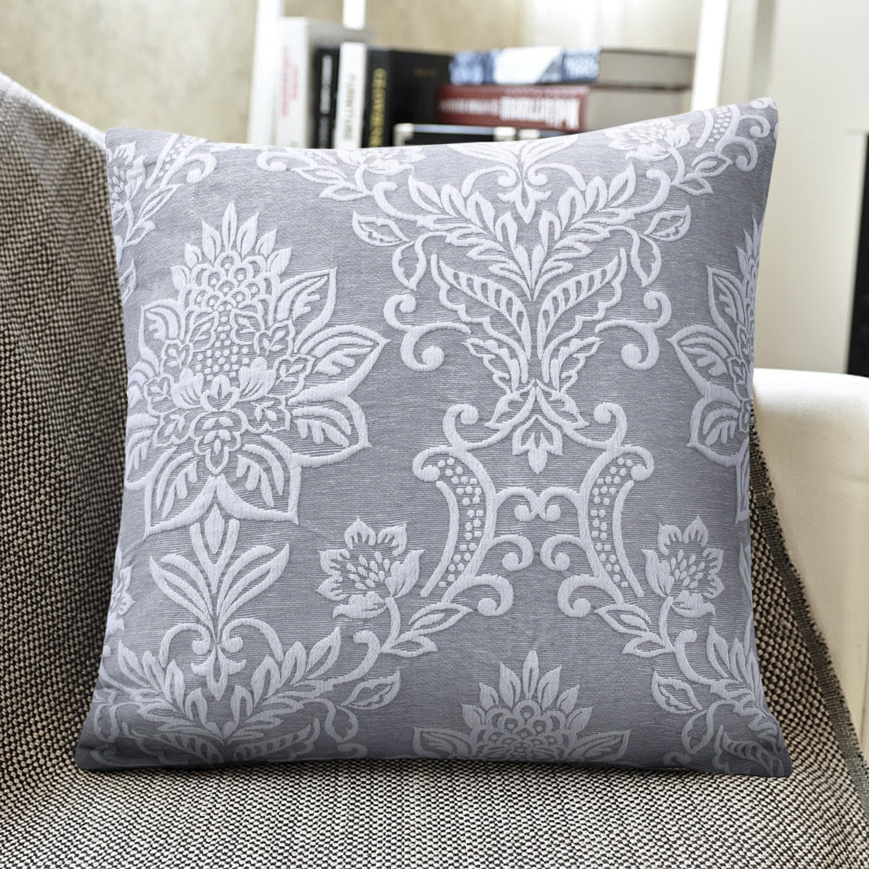 2Pcs Grey Yellow Cushion Cover Pillow Shells Case Mandala Florals Decor 50x50cm Cushions Home Decor