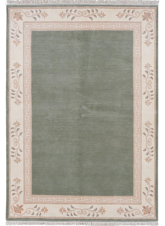 un Amour von Teppich 17442napissa Teppich natur Wolle grün, grün, 200 x 250 cm