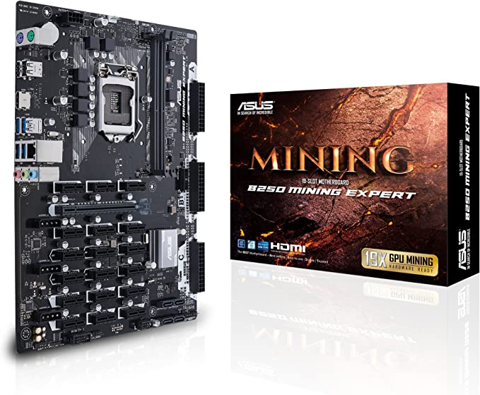 Asus B250 Mining Expert Motherboard Lga 1151 Socket Computers Accessories
