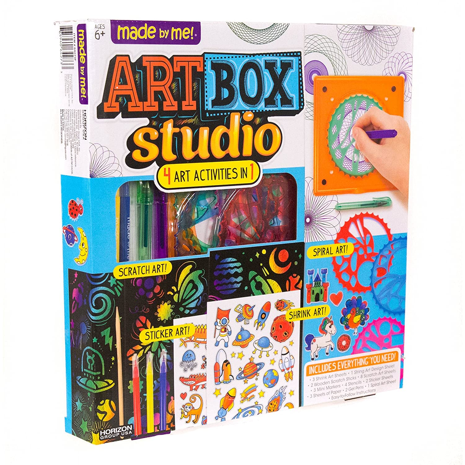 Amazon.com: Made By Me Art Box Studio by Horizon Group USA: Toys & Games