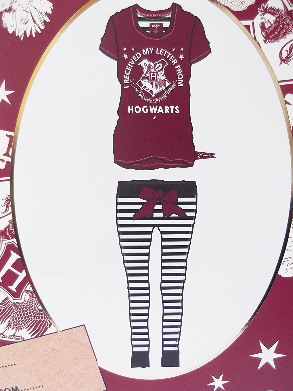 Love to Lounge Harry Potter Pijama Camiseta y Leggins en una Caja de Regalo Burgandy/White XL: Amazon.es: Ropa y accesorios