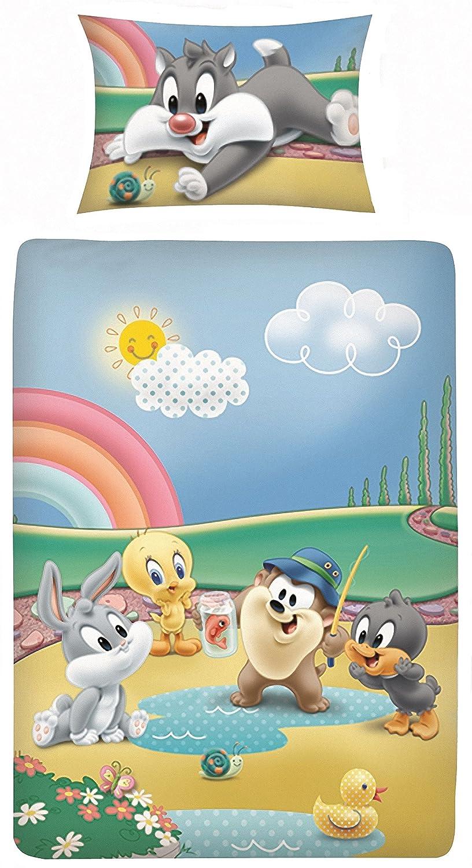 Parure de lit enfant Disney III + 2pièces 100% Coton 40x 60100x 135cm Avec Fermeture Éclair KiGaTex