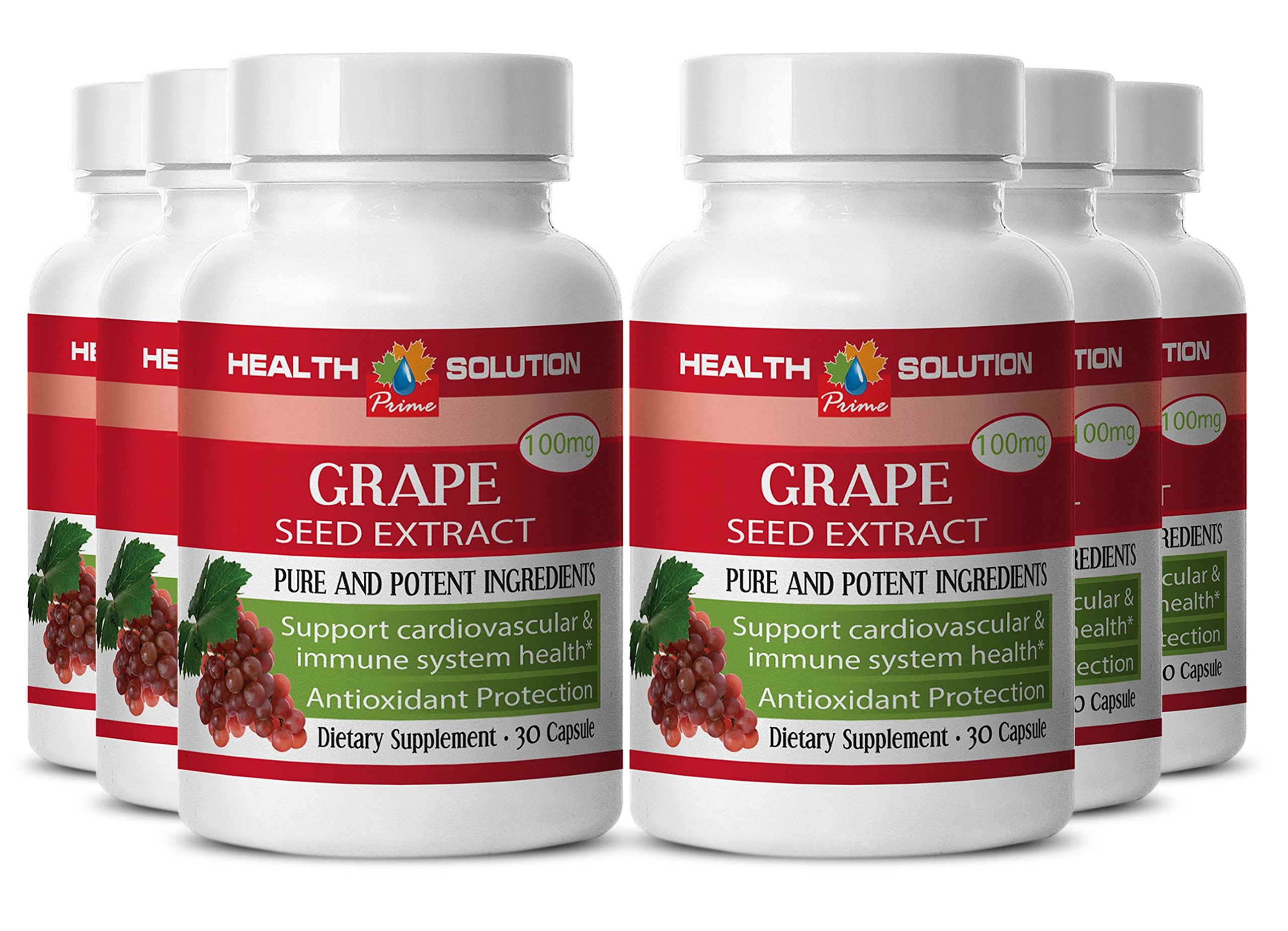 Pine bark grape seed green tea - GRAPE SEED EXTRACT- promote skin and eye health (6 bottles)