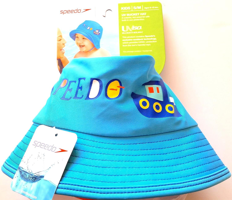 3ec803160 Speedo UV50+ Sun Protection Bucket Hat Kids Size S/M Ages 6-12 months