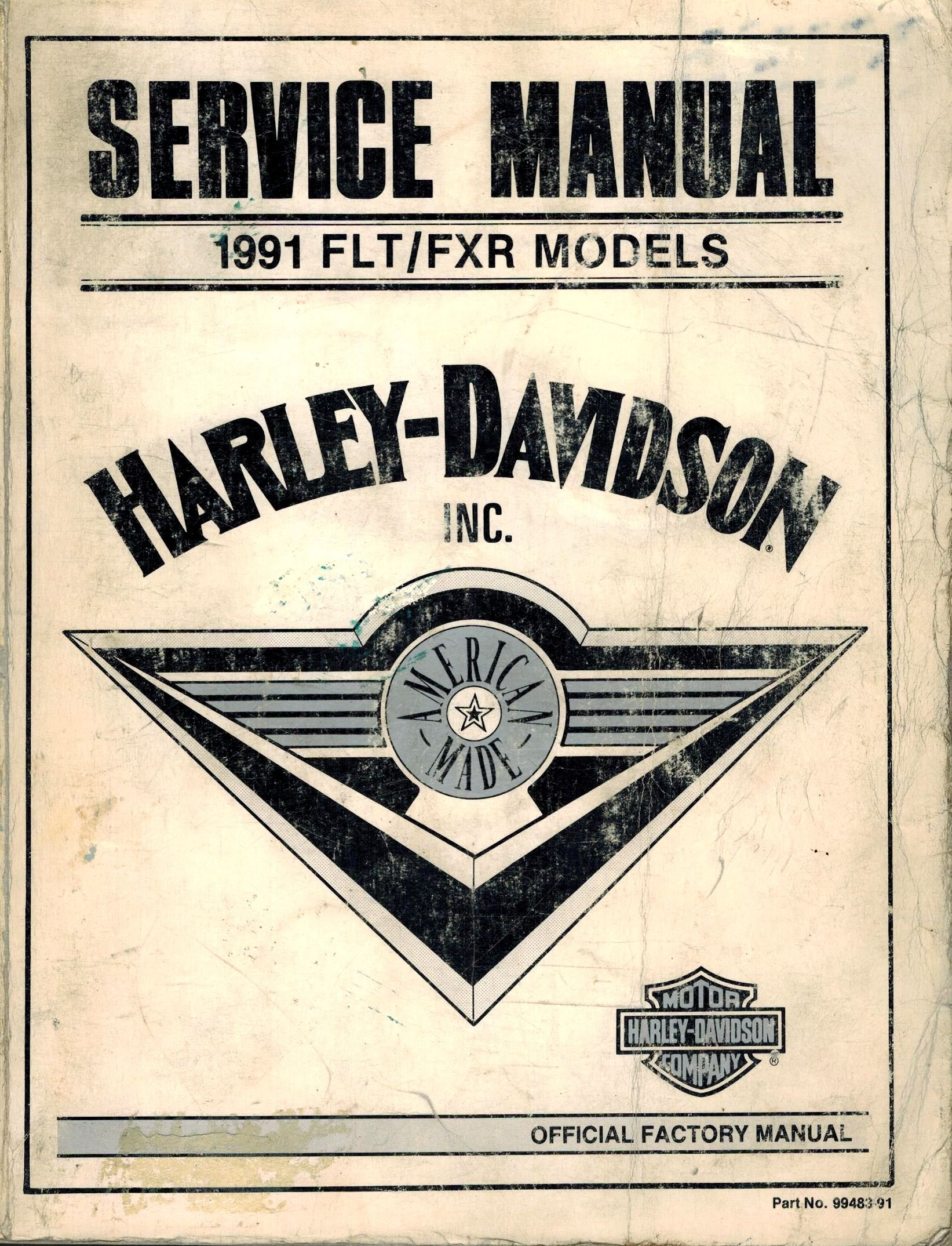1991 Harley-Davidson Service Manual for FLT/FXR 1340cc 5