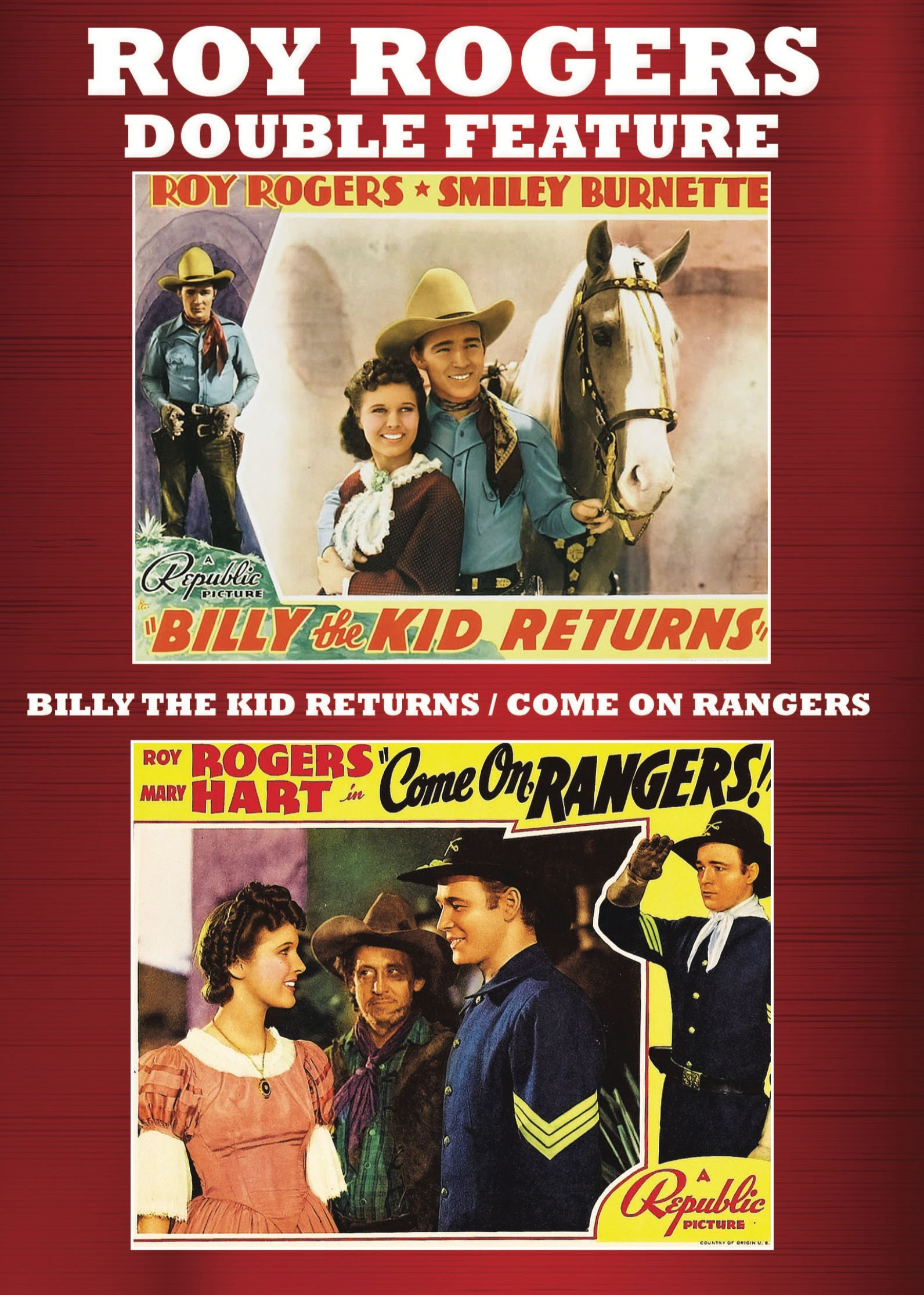 DVD : Billy The Kid Returns/ Come On Rangers (2 Pack, 2PC)